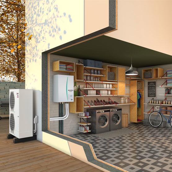 Installation pompe à chaleur AIR EAU à narbonne réalisée par Synergys