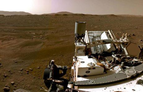 Le rover, robot mobile nommé Persévérance de la NASA